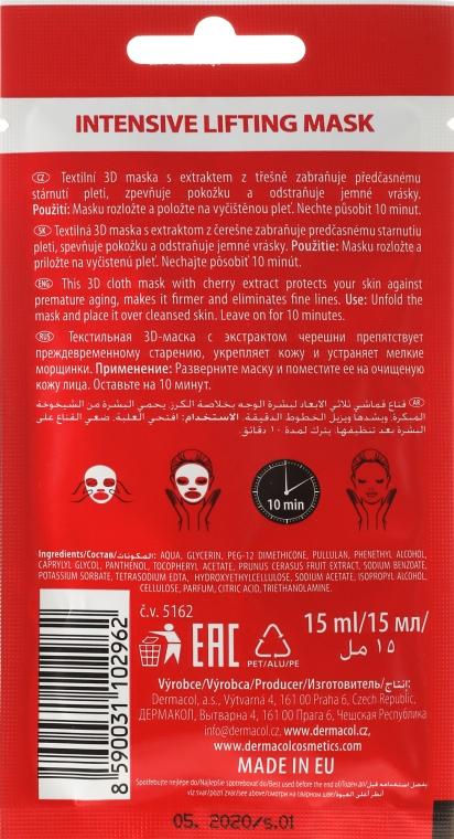 Liftingująca maseczka do twarzy na tkaninie - Dermacol 3D Inzensive Lifting Mask — фото N2