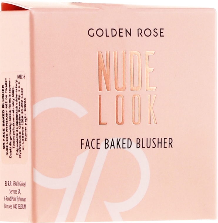 Róż do policzków - Golden Rose Nude Look Face Baked Blusher