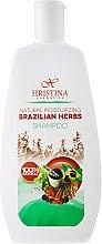 Kup Naturalny szampon nawilżający do włosów Brazylijskie zioła - Hristina Cosmetics Brazilian Herbs Shampoo