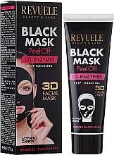 Kup Koenzymatyczna czarna maska do twarzy peel-off - Revuele Black Mask Peel Off Co-Enzymes