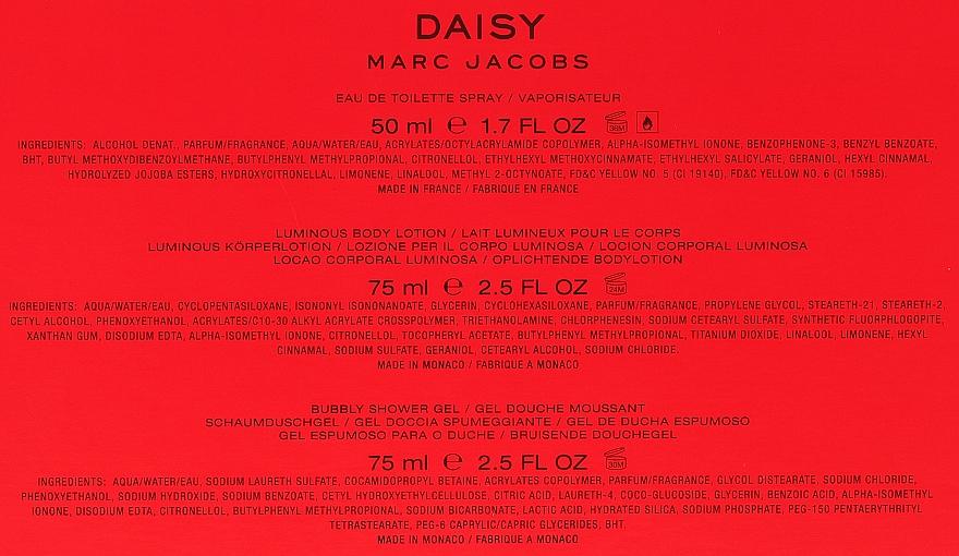 Marc Jacobs Daisy - Zestaw (edt 50 ml + sh/gel 75 ml + b/lot 75 ml)  — фото N2