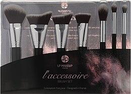 Kup Zestaw pędzli do makijażu, 7 szt. z kosmetyczką - LP Makeup Set Of Seven Professional Brushes L'accessoire With Leather Bag