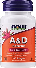 Kup Suplement diety Witaminy A i D - Now Foods A&D Eye & Bone Health