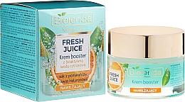 Kup Nawilżający krem-booster do cery normalnej, suchej i wrażliwej z bioaktywną wodą cytrusową - Bielenda Fresh Juice Booster