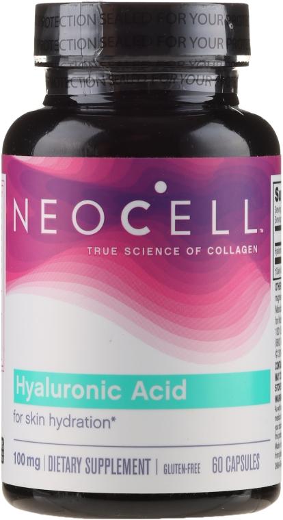 Kwas hialuronowy w kapsułkach na zdrową skórę, stawy i oczy - NeoCell Hyaluronic Acid — фото N1