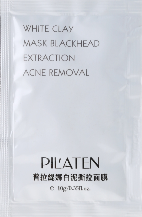 Maska do twarzy z glinką białą - Pilaten White Clay Mask Blackhead Extraction Acne Removal (próbka)