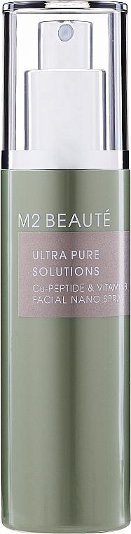 Spray do twarzy z witaminą B - M2Beaute Ultra Pure Solutions Cu-Peptide & Vitamin B Facial Nano Spray — фото N1