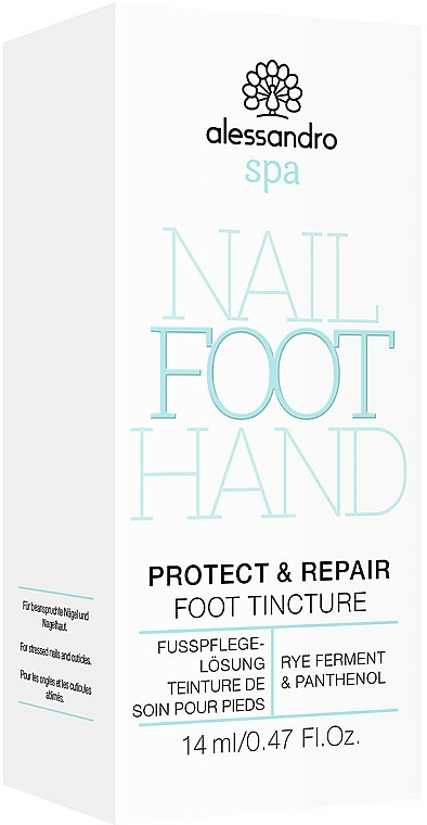 Tynktura do pielęgnacji paznokci u stóp - Alessandro International Spa Protect & Repair Foot Tincture — фото N2