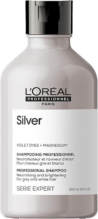 Rozjaśniający szampon do włosów siwych - L'Oreal Professionnel Serie Expert Magnesium Silver Shampoo