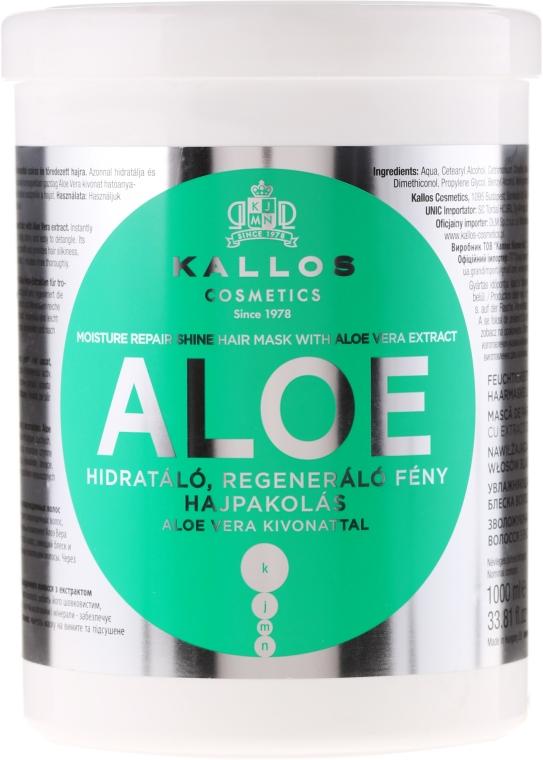 Nawilżająca maska regenerująca do włosów Aloe - Kallos Cosmetics Moisture Repair Aloe Hair Mask — фото N2