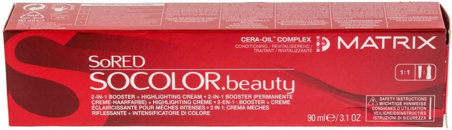 Farba do włosów wzmacniająca intensywność koloru 2 w 1 - Matrix SoColor SoRED