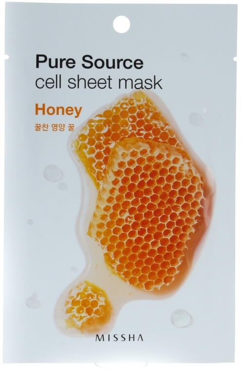 Maseczka do twarzy Miód - Missha Pure Source Cell Sheet Mask Honey