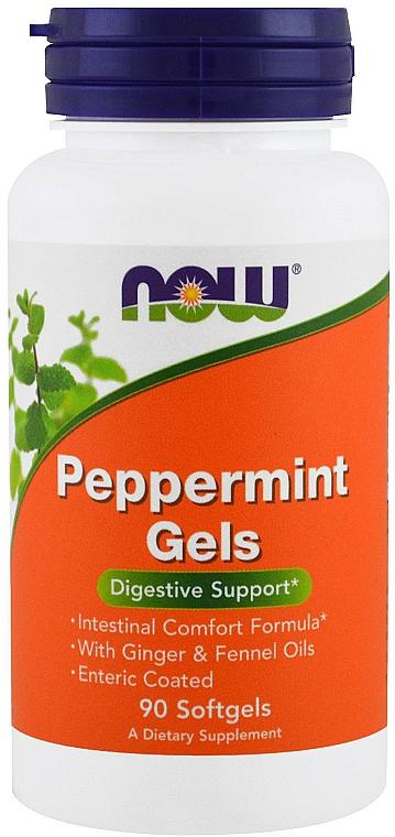 Kapsułki miętowe wspomagające układ trawienny - Now Foods Peppermint Gels — фото N1