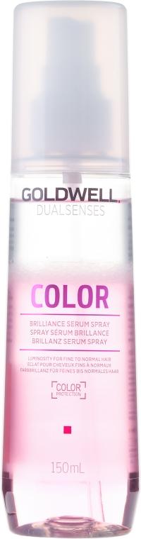 Nabłyszczające serum w sprayu do włosów farbowanych - Goldwell Dualsenses Color Brilliance Serum Spray