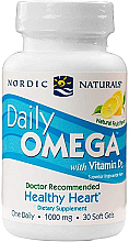 Kup Suplement diety Omega z witaminą D3, 500 mg, smak cytrynowy - Nordic Naturals Daily Omega