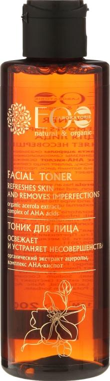 Odświeżający tonik do twarzy z kwasami AHA - ECO Laboratorie