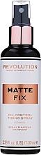 Kup Utrwalacz makijażu w sprayu - Makeup Revolution Matte Fix Oil Control Fixing Spray