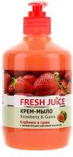 Kup Kremowe mydło z nawilżającym mlekiem ryżowym Truskawka i guawa - Fresh Juice Strawberry & Guava