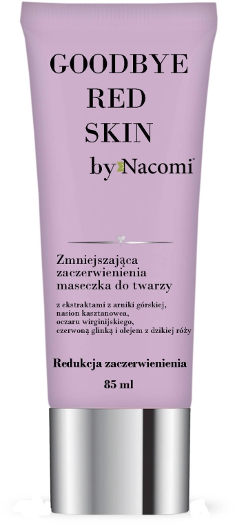 Maseczka do twarzy zmniejszająca zaczerwienienia - Nacomi Goodbye Red Skin Mask