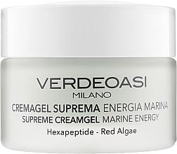 Kup Żel-krem do twarzy z heksapeptydami i czerwonymi algami - Verdeoasi Supreme Creamgel Marine Energy