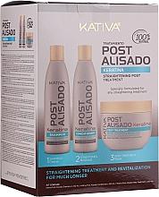 Kup Zestaw - Kativa Straightening Post Treatment Keratin (shm 250 ml + cond 250 ml + mask 250 ml)