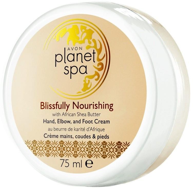 Odżywczy krem do rąk, stóp i łokci Afrykańskie masło shea - Avon Planet Spa Blissfully Nourishing Cream