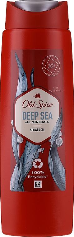 Zestaw - Old Spice Deep Sea Wooden Chest (deo/spray/150ml + deo/50g + sh/gel/250ml + ash/lot/100ml) — фото N3
