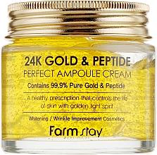 Kup Krem w ampułce do twarzy ze złotem i peptydami - FarmStay 24K Gold & Peptide Perfect Ampoule Cream
