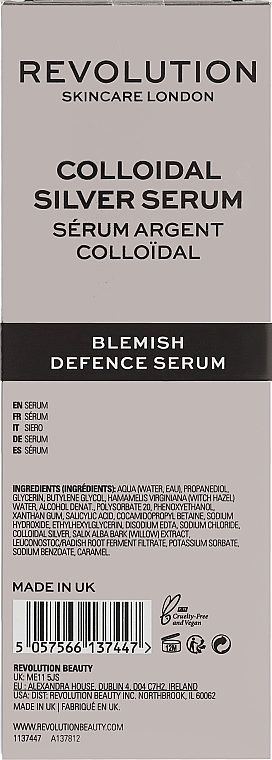 Serum do twarzy ze srebrem koloidalnym - Revolution Skincare Colloidal Silver Serum — фото N3