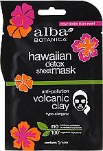 Detoksykująca maska w płachcie z glinką wulkaniczną - Alba Botanica Hawaiian Detox Sheet Mask Anti-pollution Volcanic Clay — фото N1