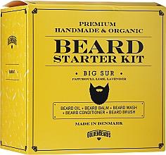Kup Zestaw do brody - Golden Beards Starter Beard Kit Big Sur (balm 60 ml + oil 30 ml + shmp 100 ml + cond 100 ml + brush)