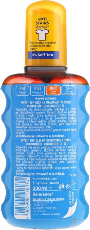 Olejek przeciwsłoneczny aktywujący opaleniznę SPF 30 - Nivea Sun Care Protect And Bronze Oil — фото N2