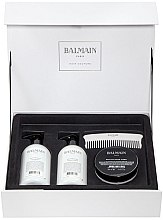 Kup Zestaw - Balmain Paris Hair Couture Silver Revitalizing Care Set (mask/200ml+h/couture/300ml+shampoo/300ml+brush)