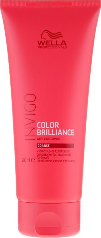 Odżywka wzmacniająca kolor grubych włosów farbowanych - Wella Professionals Invigo Colour Brilliance Coarse Conditioner — фото N1
