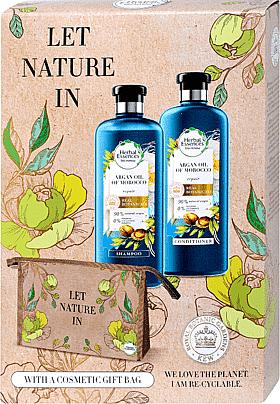 Zestaw - Herbal Essences Argan Oil of Morocco (shm/400ml+cond/360ml+bag) — фото N1