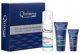 Kup Zestaw do pielęgnacji twarzy dla mężczyzn - Qiriness Men Hydration Kit Les Incontournables (foam 50 ml + fluid 15 ml + gel 5 ml)