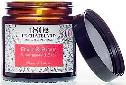 Kup Świeca zapachowa, Truskawka i bazylia - Le Chatelard 1802 Strawberry & Basil Scented Candle