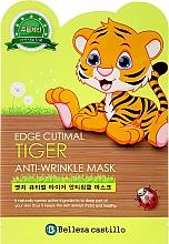 Kup Przeciwzmarszczkowa maska na tkaninie do twarzy Tygrysek - Belleza Castillo Edge Cutimal Tiger Anti-Wrinkle Mask