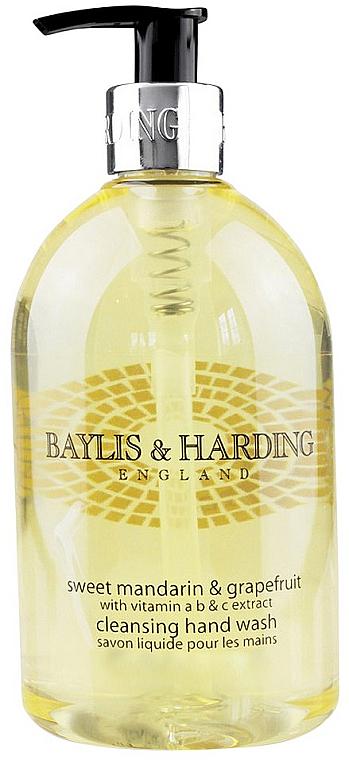PRZECENA! Mydło w płynie do rąk Słodka mandarynka i grejpfrut - Baylis & Harding Sweet Mandarin & Grapefruit Cleansing Hand Wash * — фото N1