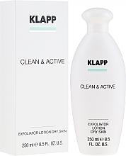 Kup Peelingujący lotion do suchej skóry ciała - Klapp Clean & Active Exfoliator Dry Skin