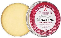 Kup Naturalny dezodorant w kremie Różowy grejpfrut - Ben & Anna Pink Grapefruit Soda Cream Deodorant