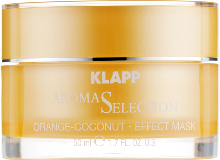 Ochronna kremowa maska do twarzy Pomarańcza i kokos - Klapp Aroma Selection Orange-Coconut Mask — фото N2