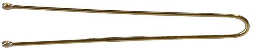 Wsuwki do włosów, proste, złote - Lussoni Hair Pins 4.5 cm  — фото N1