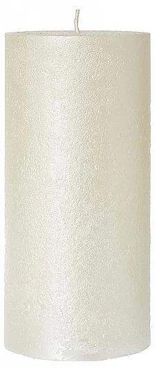 Świeca dekoracyjna, perłowa 7 x 18 cm - Artman Rustic Metalic — фото N1