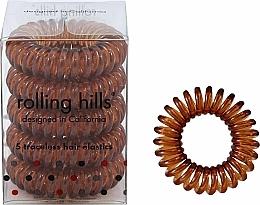 Kup Gumki do włosów, brązowe, 5 szt. - Rolling Hills 5 Traceless Hair Rings Coffee