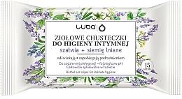 Kup Ziołowe chusteczki do higieny intymnej Szałwia i siemię lniane - Luba Wipes