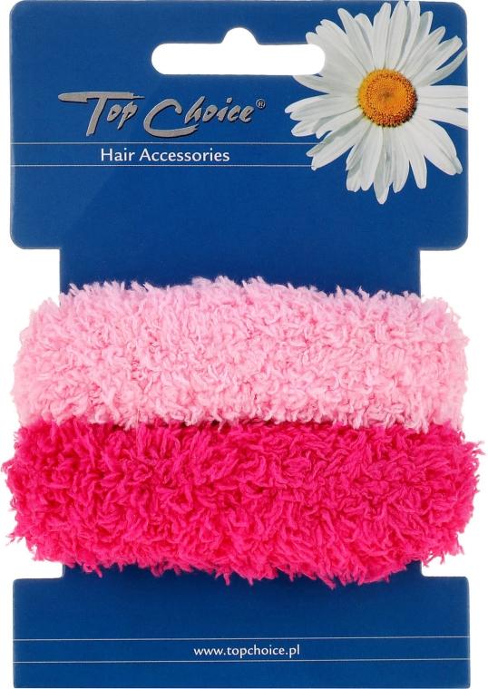 Gumki do włosów 2 sztuki, różowe - Top Choice