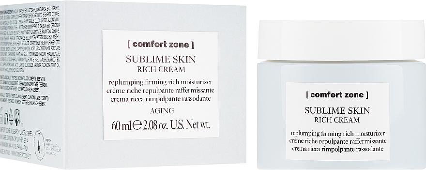 Odżywczy krem ujędrniający do twarzy - Comfort Zone Sublime Skin Rich Cream — фото N1