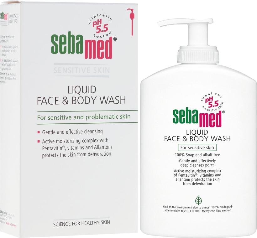 Żel do twarzy i ciała z dozownikiem - Sebamed Liquid Face and Body Wash — фото N1