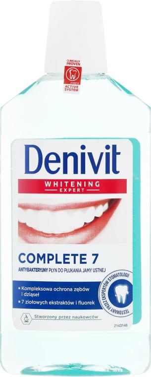 Antybakteryjny płyn do płukania jamy ustnej - Denivit Whitening Expert Complete 7 Mouthwash